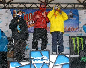 Zack Foster (Lucky Snowboards) - 1st Place 2011 USASA Slopestyle at Mt. High
