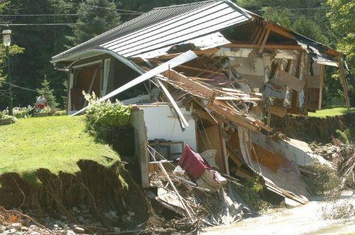 Brian Halligan's house damaged by Hurricane Irene